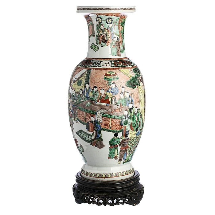 Large vase in chinese porcelain, Guangxu