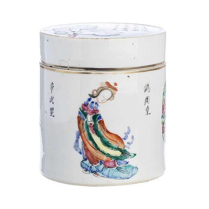 Case in Chinese porcelain, Tongzhi