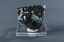 Aquamarine and Black Tourmaline