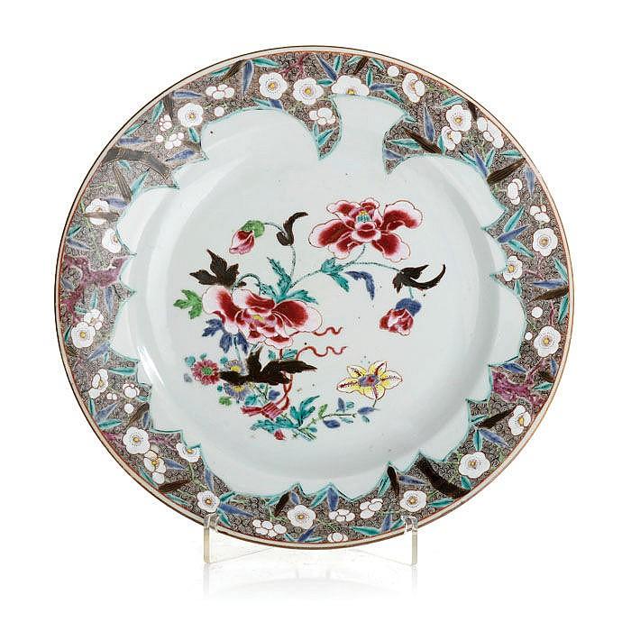Palte in Chinese porcelain, Yongzheng