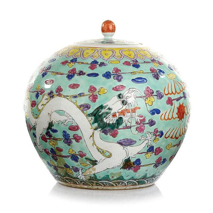 Pot dragons in Chinese porcelain, Tongzhi