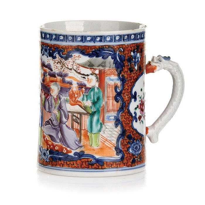 Mug in Chinese porcelain