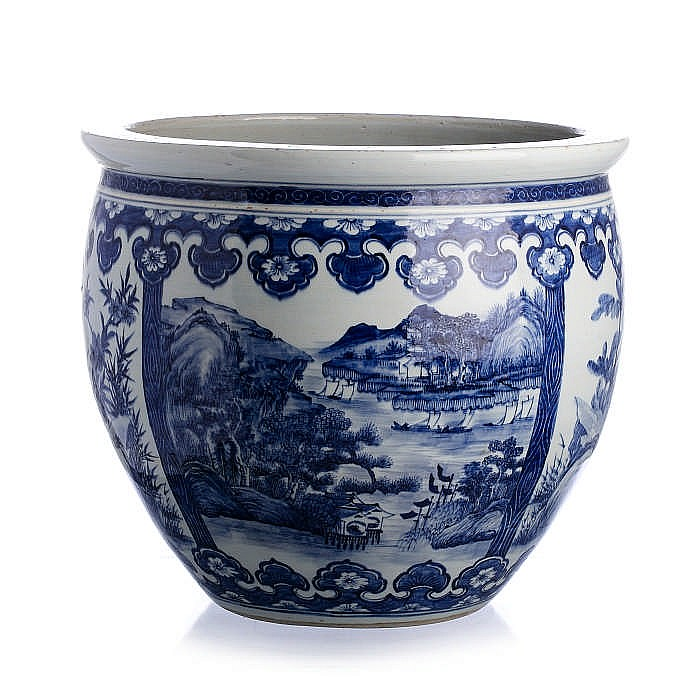 Fish bowl in chinese porcelain guangxu for Chinese fish bowl