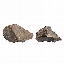 Two paleolithic bifaces