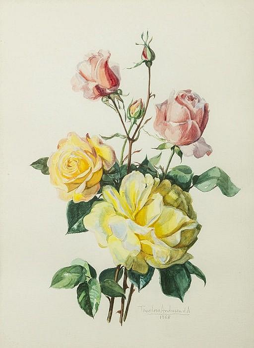 TEODORA ANDRESEN (1900-1989) - 'Rosas' [Roses]