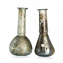 Two unguent flasks in Roman glass