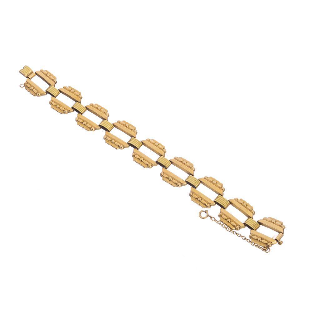 Art deco gold bracelet