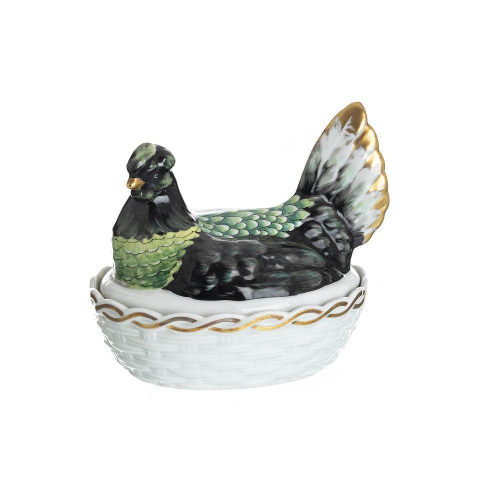 Chicken box in Vista Alegre porcelain