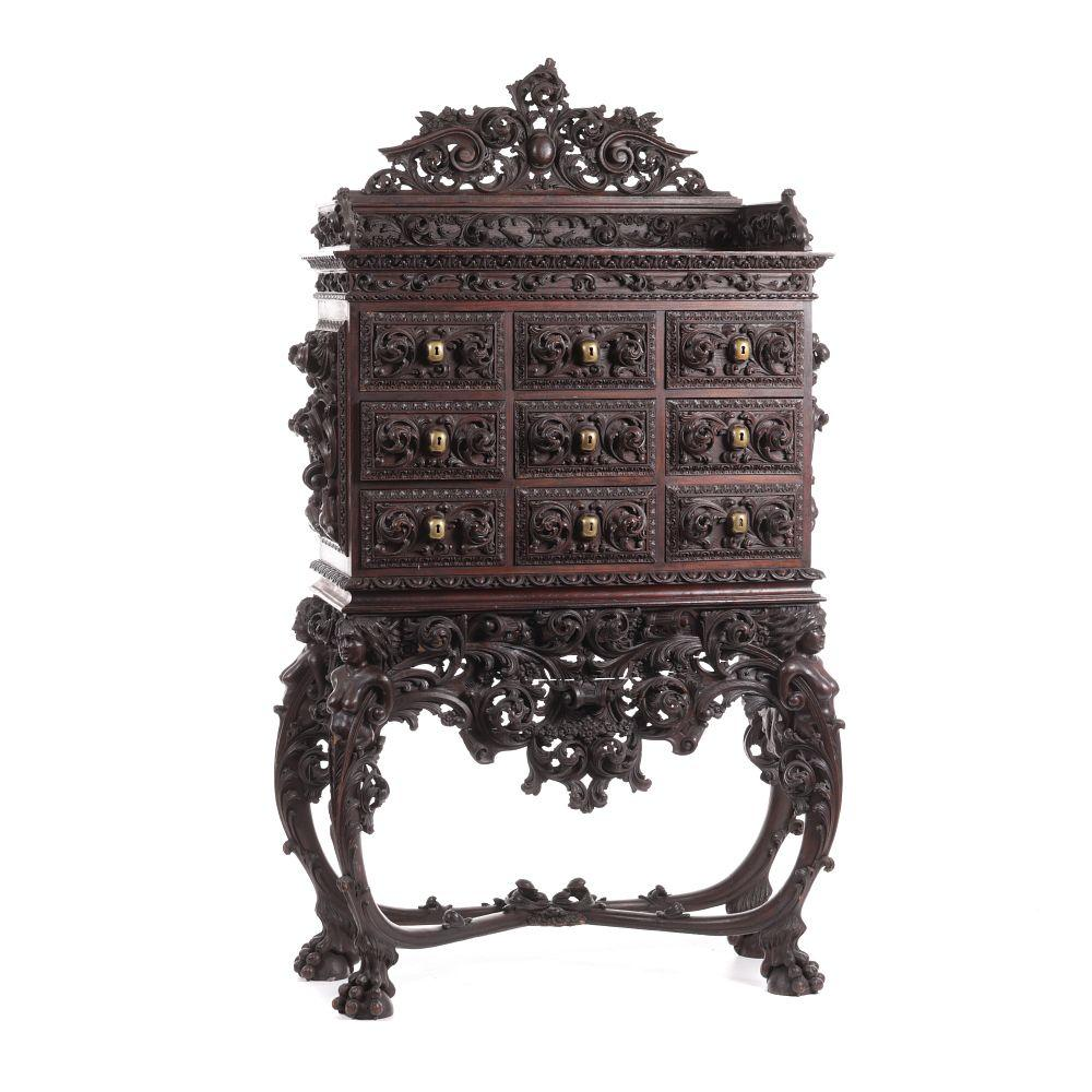 Large Neo-renaissance carved cabinet
