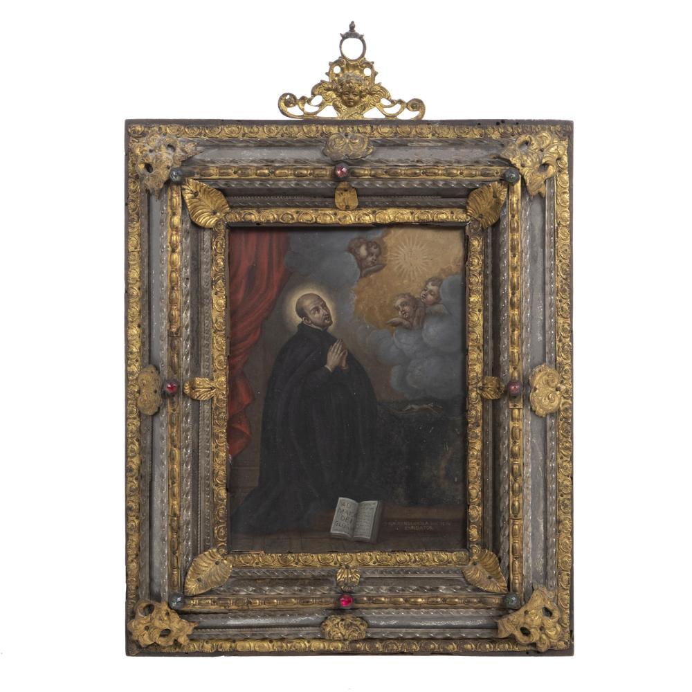 ITALIAN SCHOOL, 17th Century - Saint Ignatius of Loyola