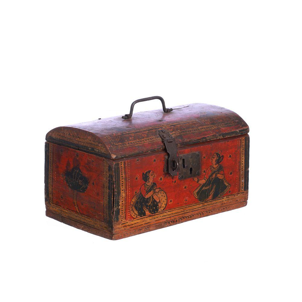 Indian lacquered coffer