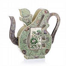 Chinese Porcelain Ideogram Wine Ewer, Daoguang