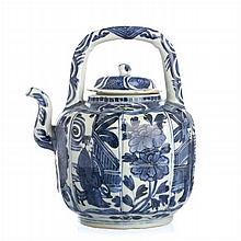 Chinese Porcelain Kraak Wine Ewer, Wanli