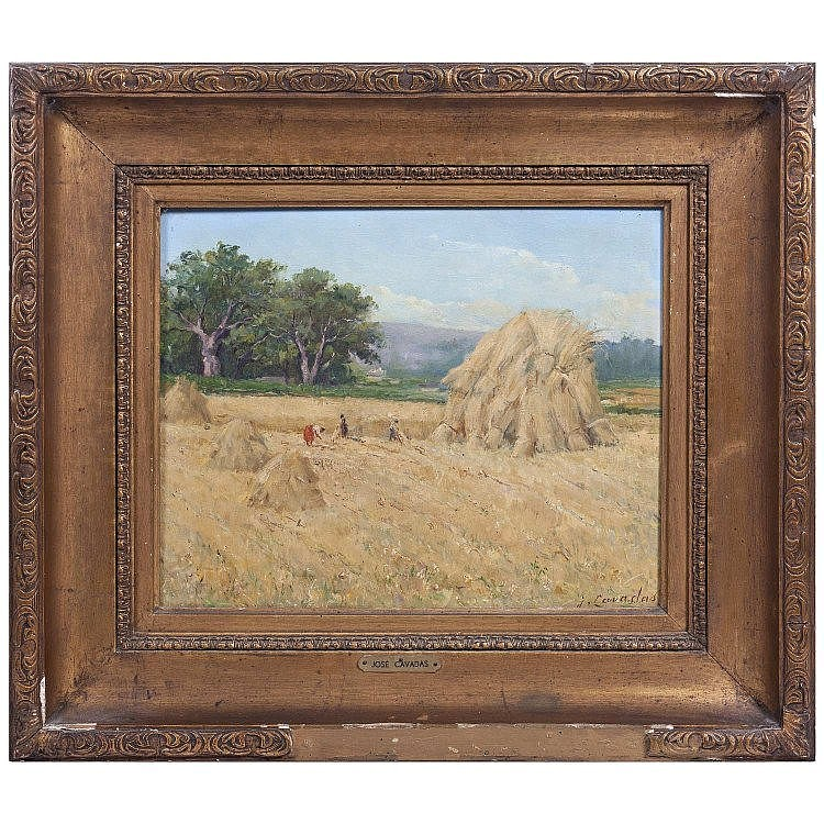 JOSÉ CAVADAS (1881-1964) - Farmwork