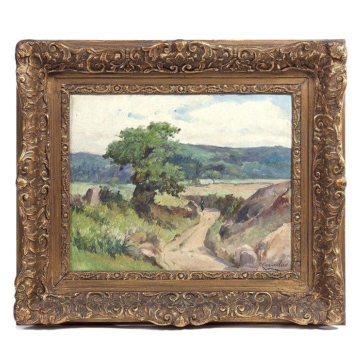 JOSÉ CAVADAS (1881-1964) - 'Paisagem com caminho' (Scenery with a path)