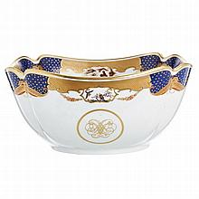 'Golden Butterfly' salad bowl by Vista Alegre