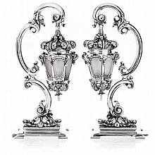 REIS, PORTO - Pair of candlesticks in silver