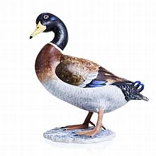 Duck painted in biscuit Vista Alegre