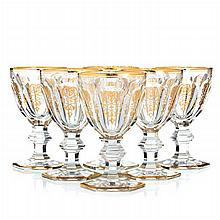 BACCARAT, FRANCE - Six glasses of water 'Empire'