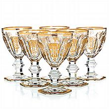 BACCARAT, FRANCE - Six wine glasses Empire