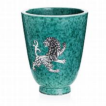 WILHELM KAGE (1889-1960) - Argenta 'rampant lion' vase