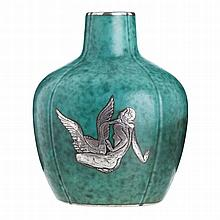 WILHELM KAGE (1889-1960) - Argenta figurative vase
