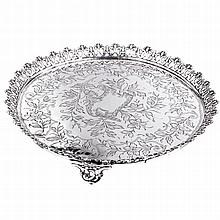 Salver with a pierced gallery
