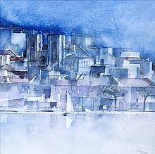 "PAULO OSSIÃO (b. 1953) — ""View of Lisbon"""