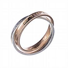 TIFFANY & CO - Double ring in gold and silver