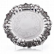 Ticket salver in silver