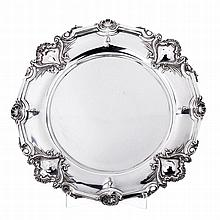 Silver salver with cartouches