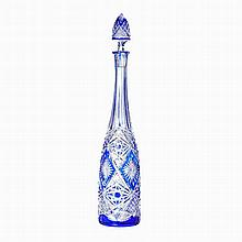 Lapidated crystal bottle
