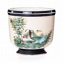 Porcelain cachepot by Vista Alegre