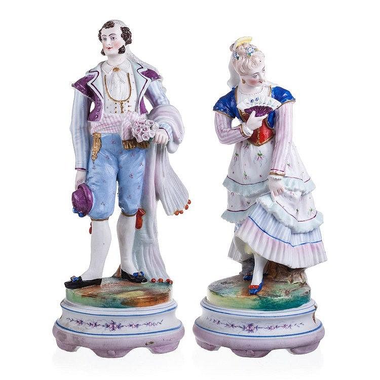 Pair of figures in biscuit