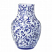 MANUEL CARGALEIRO (born 1927) - Porcelain vase