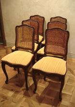 Set of French dining chairs