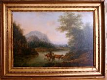 Flemish school oil painting