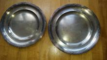 Pair of french silver platters