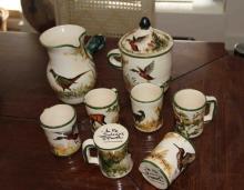 French ceramic chocolate Set