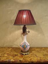 Napoleon III porcelain lamp
