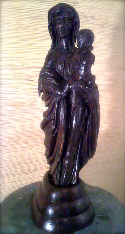Ancient wooden french antique sculpture