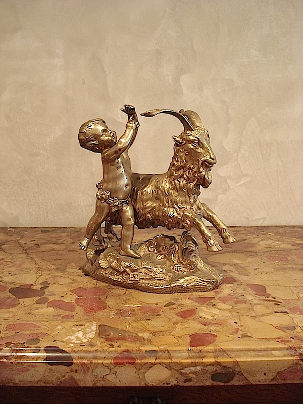 Gold guilded bronze sculpture