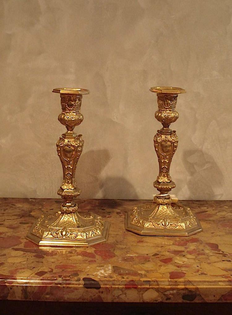 Pair of french candlesticks