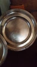 Pair of round dishes in french solid silver