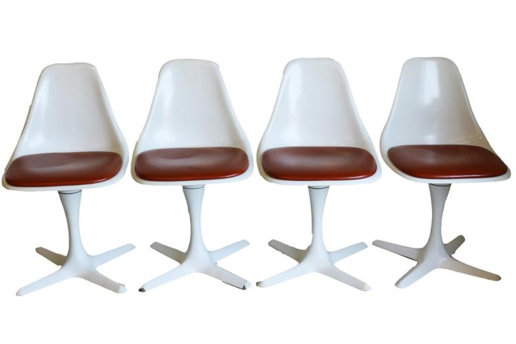 Mid Century Modern Burke Tulip Chairs Set Of 4
