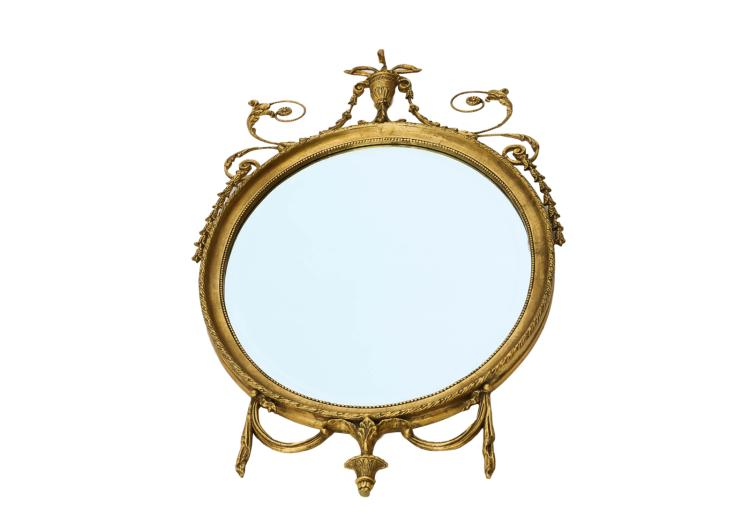 Neoclassical Style Carved French Giltwood Mirror