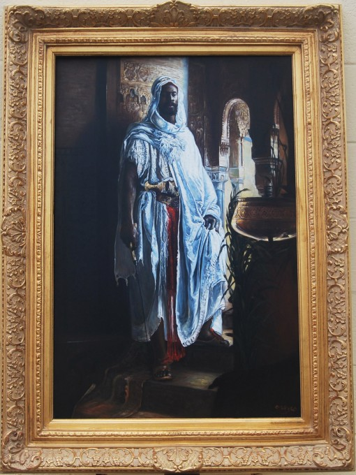 A Nubian Guard oil on canvas signed