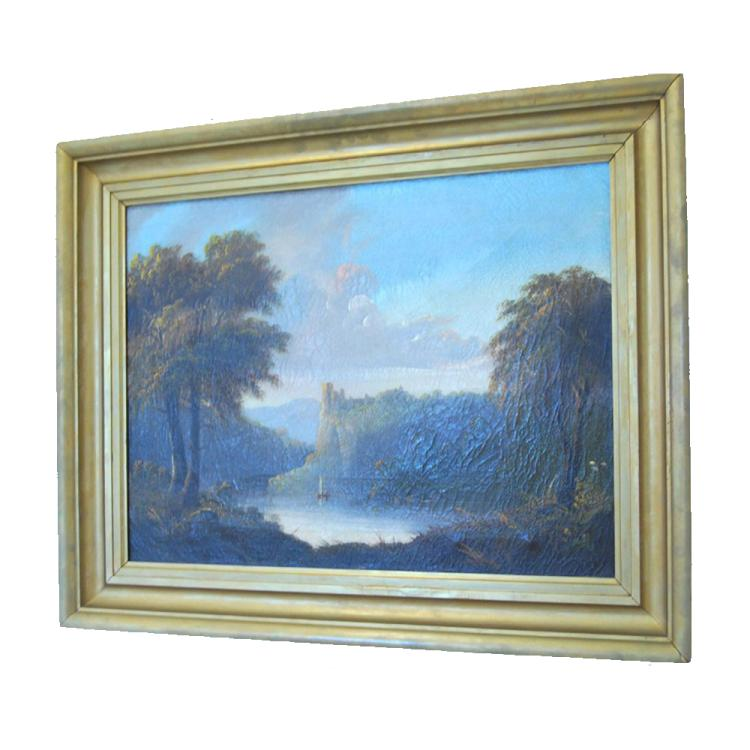 Oil on Canvas Landscape, British School