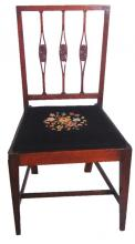 A Federal mahogany dining chair