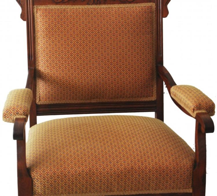 An American walnut armchair